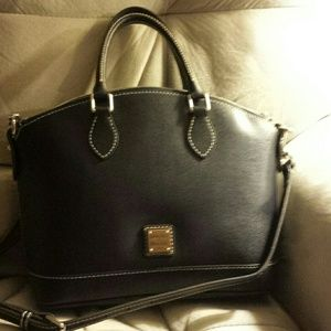 New with tag Dooney Darcy blue satchel